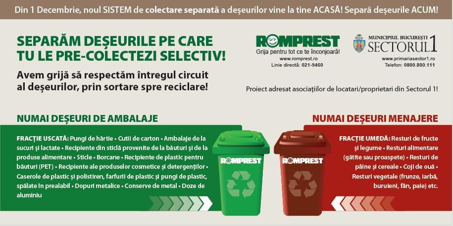Info Utile: Programul de colectare a deșeurilor de Sărbători