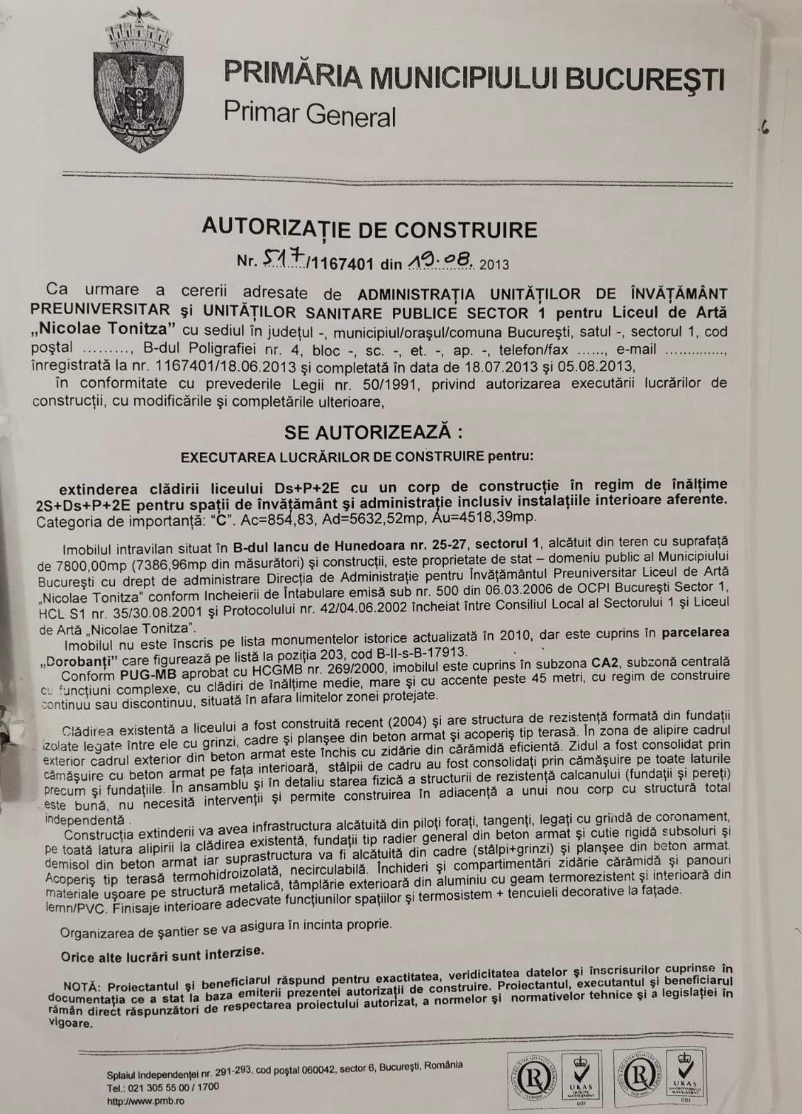 "Clotilde Armand: ""Am reușit să rezolvăm urgent problema de la Liceul «Nicolae Tonitza»"""