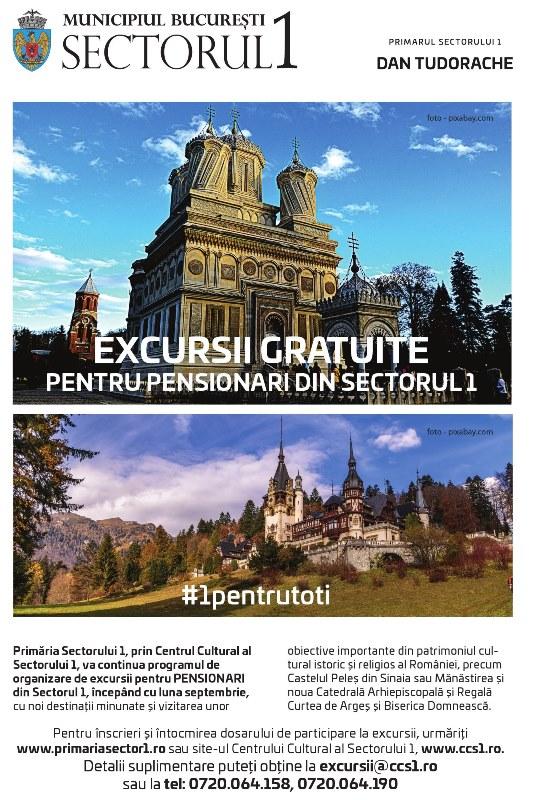 Excursii gratuite pentru pensionari din Sectorul 1