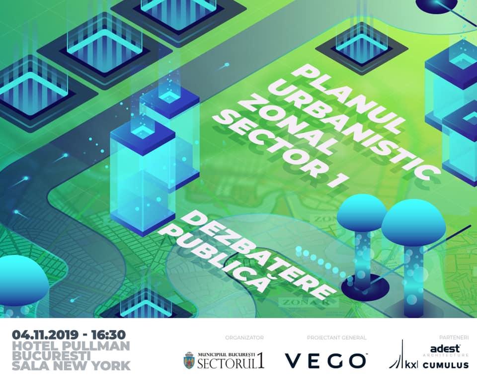 Invitație: a doua dezbatere publică a Planului Urbanistic Zonal al Sectorului 1