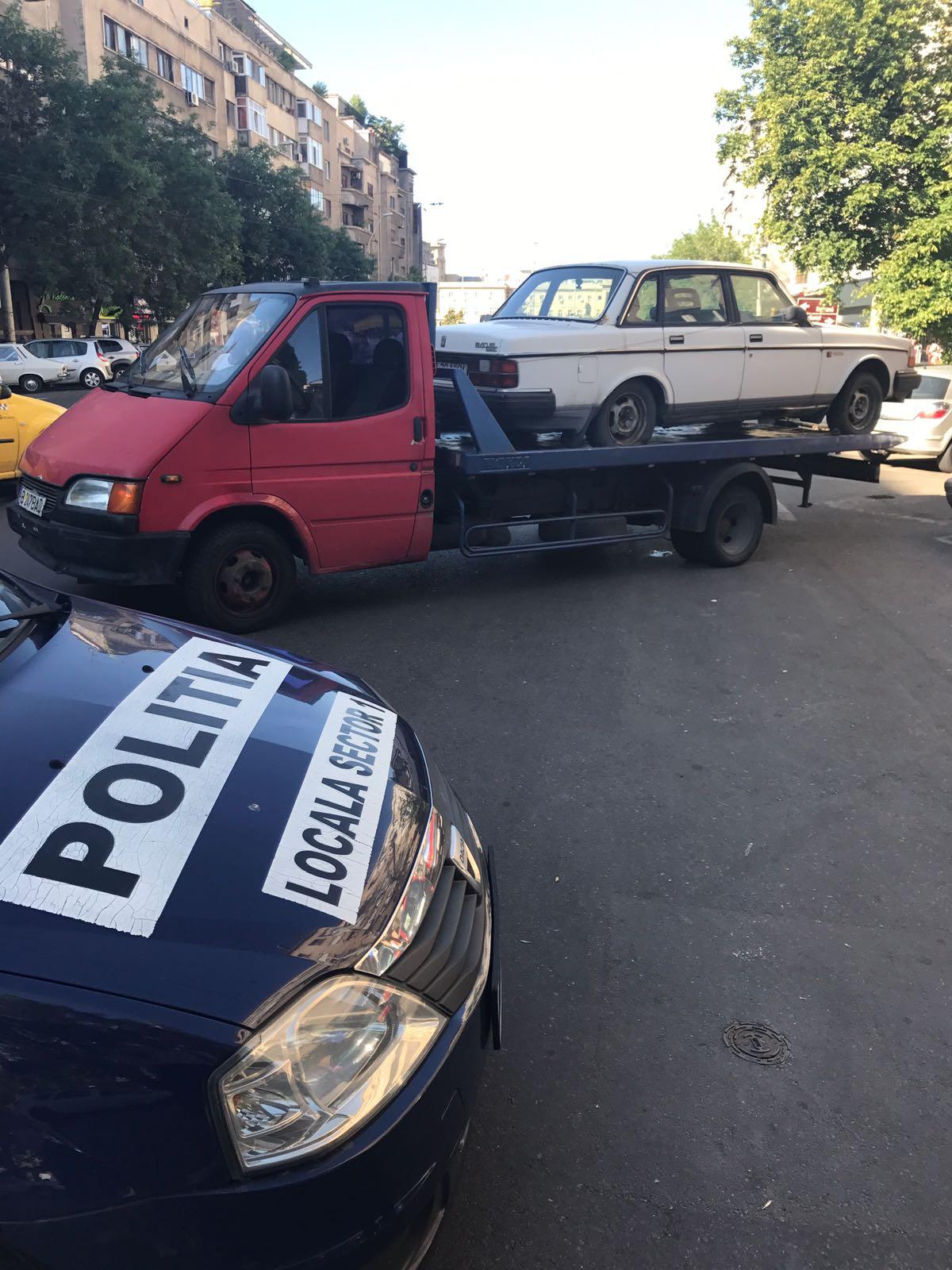 A început ridicarea mașinilor  abandonate de pe străzile Sectorului 1