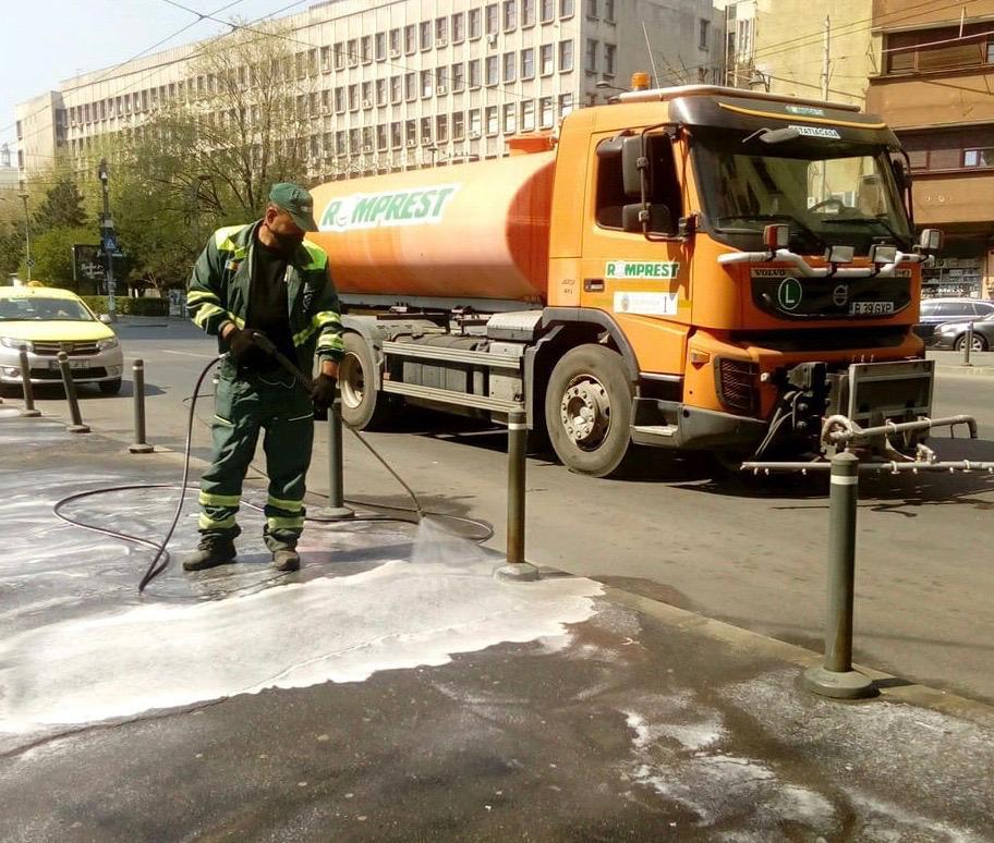 Program spălare carosabil și trotuare în Sectorul 1
